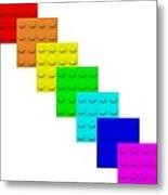 Lego Box White Metal Print