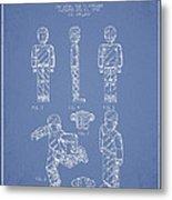 Lego Toy Figure Patent - Light Blue Metal Print