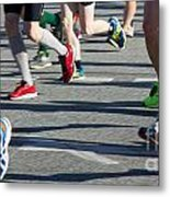 Legs Of Runners At Marathon Metal Print