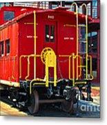Lehigh New England Railroad Caboose 583 Metal Print