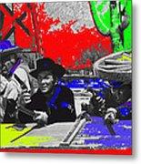 Leif Erickson Cameron Mitchell  Mark Slade Number 2 The High Chaparral Set Old Tucson Az 1969-2008 Metal Print