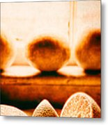 Lemon Among Oranges Metal Print