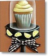 Lemon Cupcake Metal Print