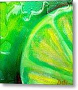 Lemon Lime Metal Print by Debi Starr