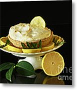 Lemon Meringue Delight Metal Print