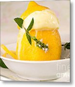 lemon Sorbet   Metal Print