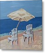 Lemonade By The Ocean 1 Metal Print