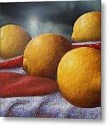 Lemons And Chilis Metal Print