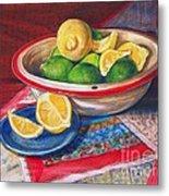 Lemons And Limes Metal Print by Joy Nichols