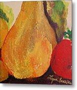 Lemons Pears Apples Metal Print