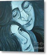 Lennon And Ono Metal Print