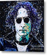 Lennon Metal Print by Chris Mackie