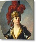 Lenoir, Simon Bernard 1729-1791. Lekain Metal Print