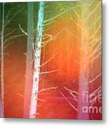 Lens Flare In The Forest Metal Print