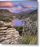 Lenticular Clouds At Canales Lake Metal Print