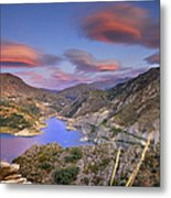 Lenticular Clouds At The Red Sunset Metal Print