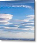 Lenticular Clouds Forming In The Troposphere Metal Print