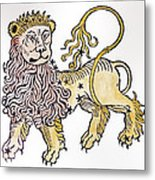 Leo An Illustration From The Poeticon Metal Print