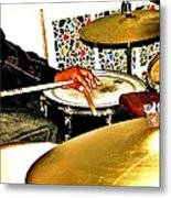 Leo Drumming Metal Print