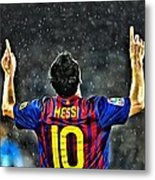 Leo Messi Poster Art Metal Print