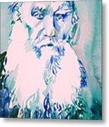 Leo Tolstoy Watercolor Portrait.2 Metal Print
