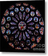 Leon Spain Cathedral Rosette Metal Print