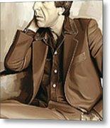 Leonard Cohen Artwork 2 Metal Print