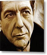 Leonard Cohen Artwork Metal Print