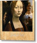 Leonardo Da Vinci 2 Metal Print