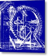 Leonardo Machine Blueprint Metal Print