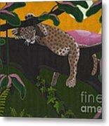 Leopard Cub Metal Print