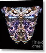 Leopard Heart Bowl Metal Print