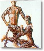 Leopard People Metal Print