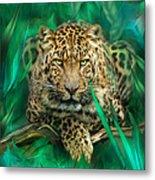 Leopard - Spirit Of Empowerment Metal Print