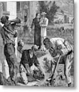 Lepers On The Island Of  Reunion Work Metal Print