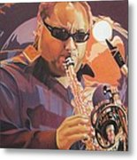 Leroi Moore Purple And Orange Metal Print