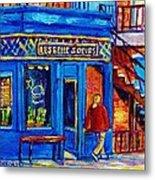 Les Belles Soeurs  Montreal Restaurant Plateau Mont Royal Painting By Carole Spandau Metal Print