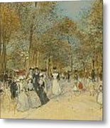Les Champs-elysees Metal Print
