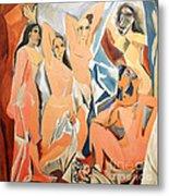 Les Demoiselles D'avignon Picasso Metal Print