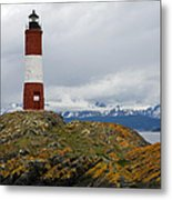 Les Eclaireurs Lighthouse Southern Patagonia Metal Print