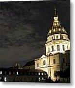 Les Invalides - Eglise Du Dome At Night - 2 Metal Print