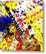 Les Paul Retro Abstract Metal Print