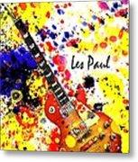 Les Paul Retro Metal Print