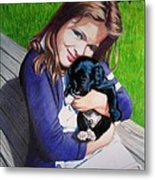 Leslie And Sergeant Metal Print