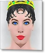 Leslie Caron Alias In The Glass Slipper Metal Print by Art Cinema Gallery