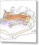 Let Sleeping Dogs Lie Metal Print by Molly Brandenburg