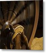 Let The Spinning Wheel Spin Metal Print