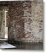 Letchworth Village Brick Wall With Door 3 Metal Print