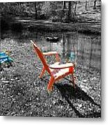 Let's Chill Metal Print