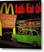 Let's Eat Out Metal Print